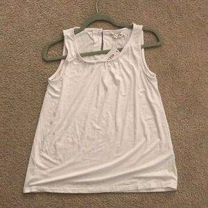 Bright white business casual tank top small
